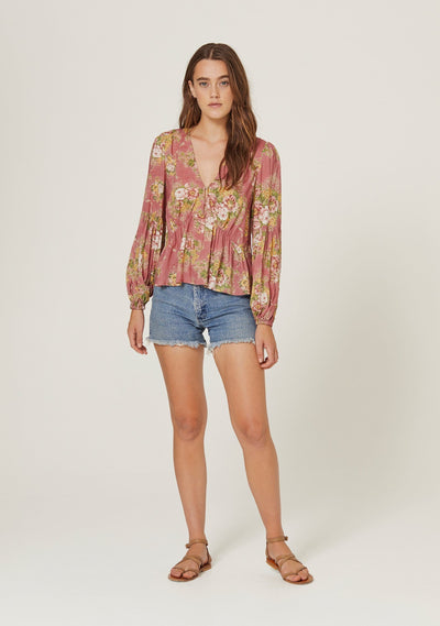 Bonnie Helena Blouse Peach - Auguste The Label