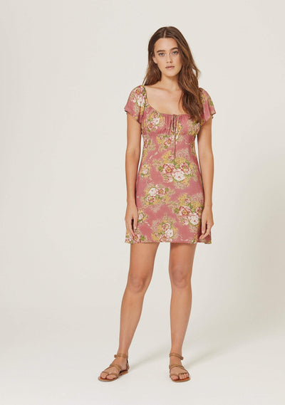 Bonnie Beachside Mini Dress Peach - Auguste The Label