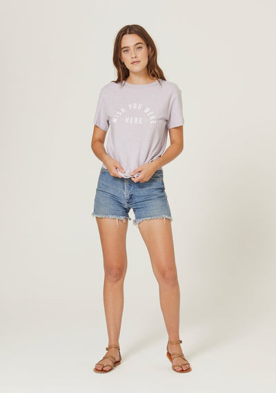 Wish You Were Here Tee Lilac - Auguste The Label