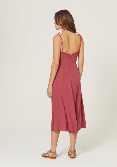 Pippi Juliette Midi Dress Rust - Auguste The Label