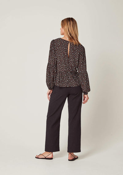 Morgan Helena Blouse Black - Auguste The Label