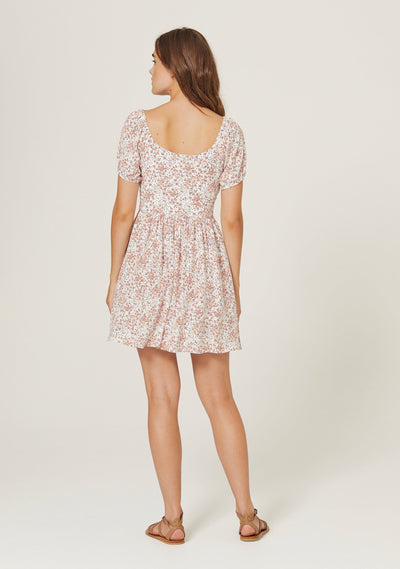 Gemima Bonne Mini Dress Off White - Auguste The Label