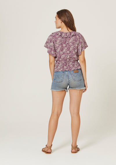 Gemima Isla Blouse Purple - Auguste The Label