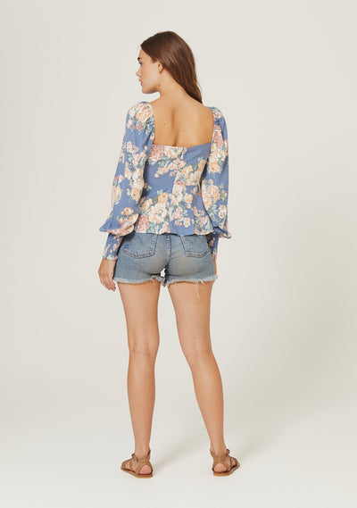 Cottage Sunday Blouse Blue - Auguste The Label