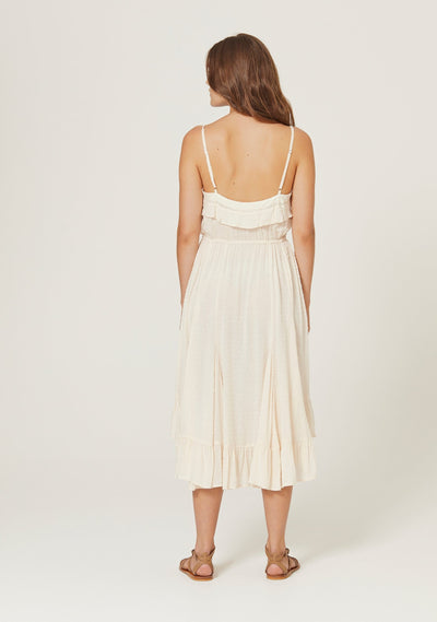 Frida Midi Dress Off White - Auguste The Label