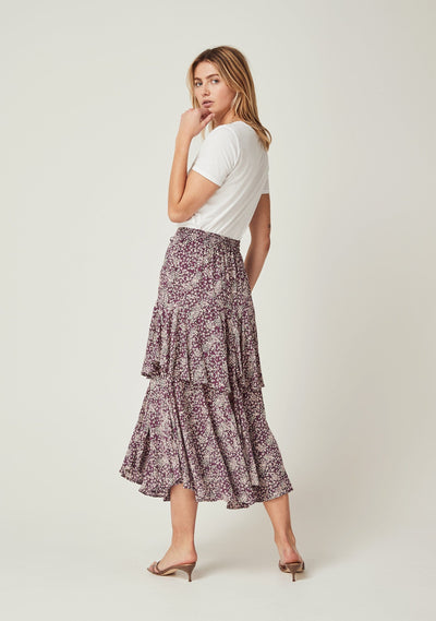 Gemima Isla Midi Skirt Purple - Auguste The Label