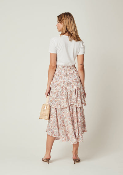 Gemima Isla Midi Skirt Off White - Auguste The Label