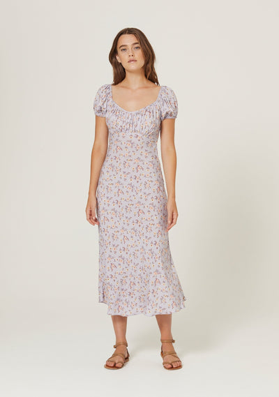 Eloise Penn Midi Dress Violet - Auguste The Label