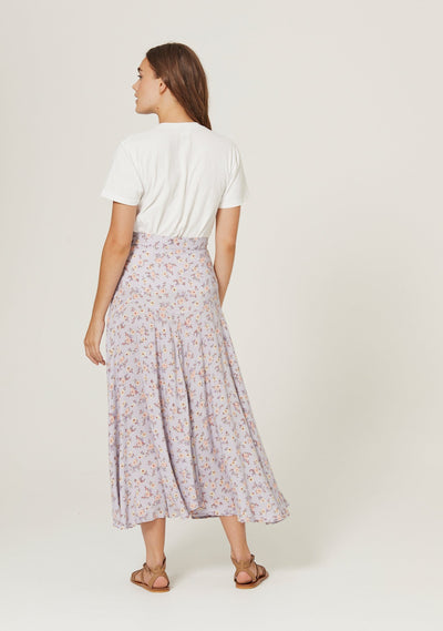 Eloise Rae Midi Skirt Violet - Auguste The Label