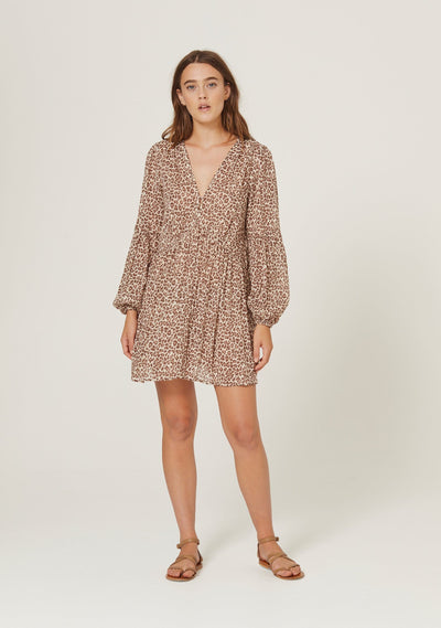 Nomad Helena Mini Dress Tan - Auguste The Label