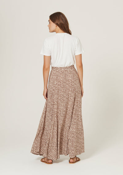 Nomad Oscar Maxi Skirt Tan - August The Label