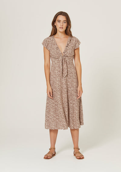 Nomad Rumba Midi Dress Tan - Auguste The Label