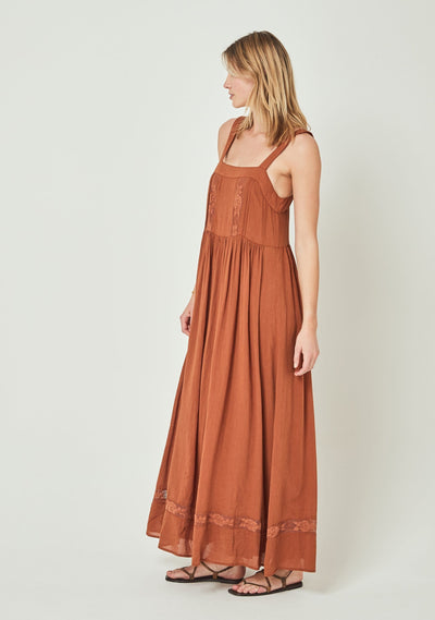 Margot Wren Strap Maxi Dress Desert Orange - Auguste The Label