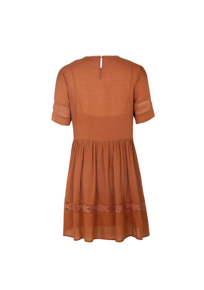 Margot Wren Mini Dress Desert Orange - Auguste The Label