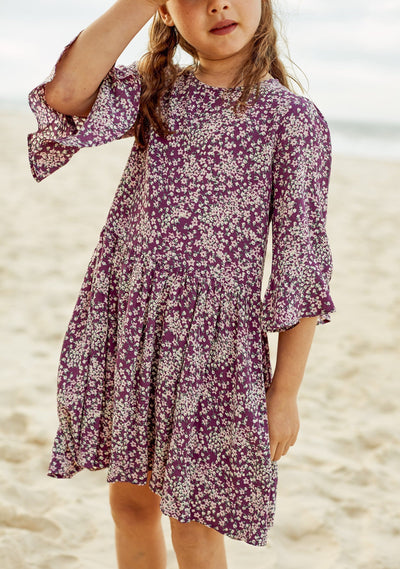Gemima Lala Mini Dress Purple - Little Auguste