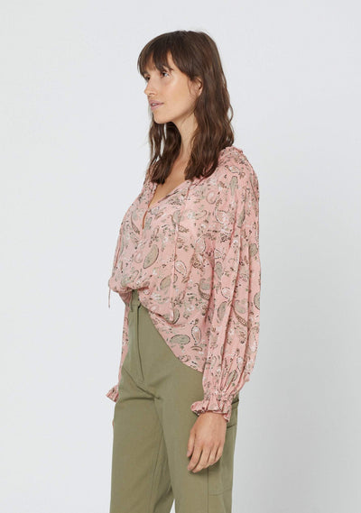 Thelma Bridgette Sleeved Blouse Pink - Auguste The Label