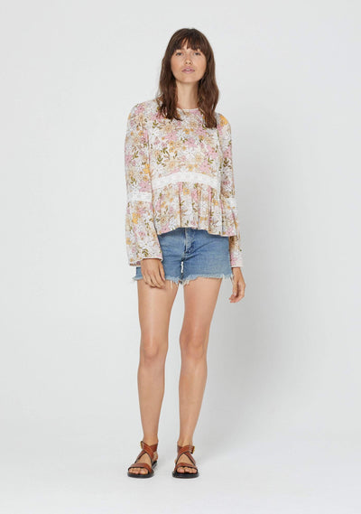 Delilah Scarlet Blouse Blush - Auguste The Label