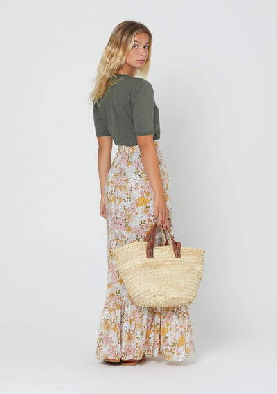 Delilah Bella Maxi Skirt Blush - Auguste The Label