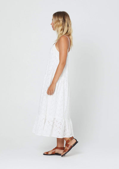Alessia Midi Dress White - Auguste The Label