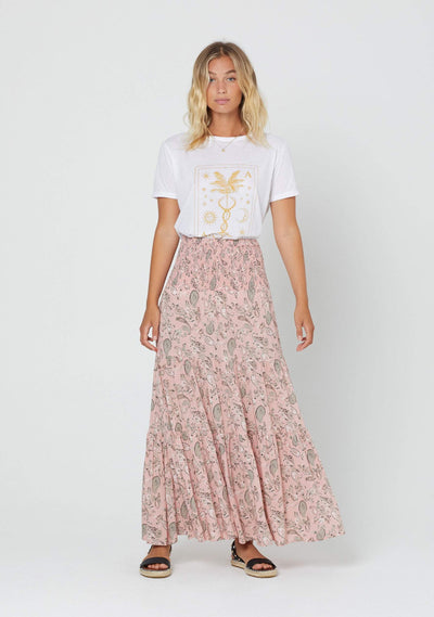 Thelma Lucie Maxi Skirt Pink - Auguste The Label