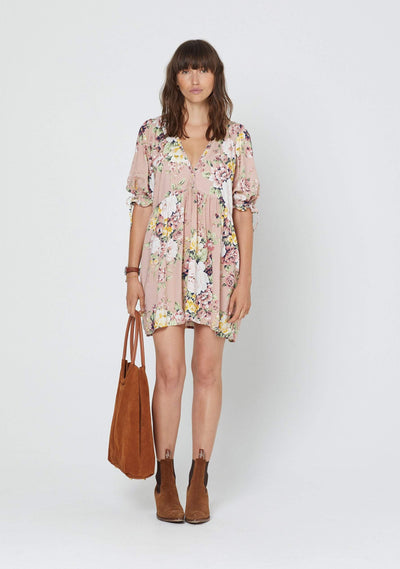 Sadie Piper Mini Dress Blush - Auguste The Label