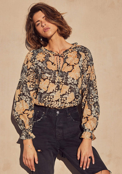 Dusk Bobby Blouse Black - Auguste The Label