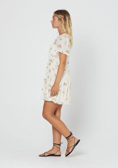 Isla Delilah Mini Dress Cream - Auguste The Label