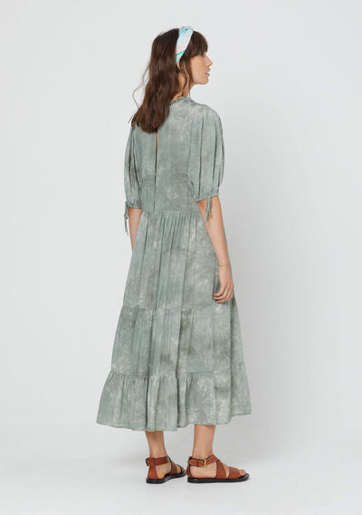 Cloudy Rye Midi Dress Khaki - Auguste The Label