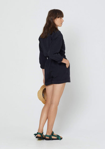 Canyon Boyfriend Romper Black - Auguste The Label
