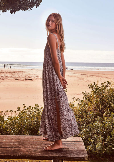 Wylde Vivienne Strappy Maxi Dress Light Grey