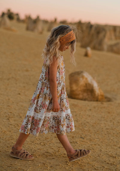 Delilah Seaside Midi Dress Blush - Little Auguste