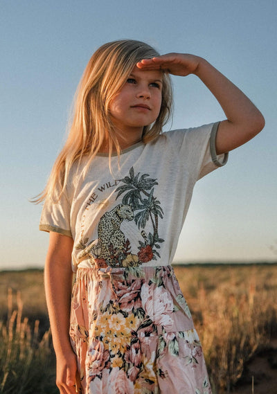Into the Wild Ringer Tee Cream - Little Auguste