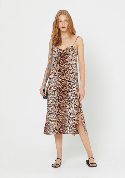 Nico Parker Slip Midi Dress Natural - Auguste The Label