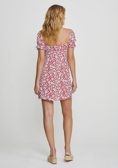 Mila June Mini Dress Red - Auguste The Label
