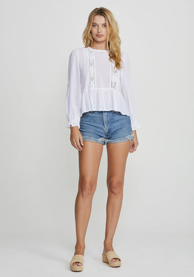 Margot Wren Blouse White - Auguste The Label