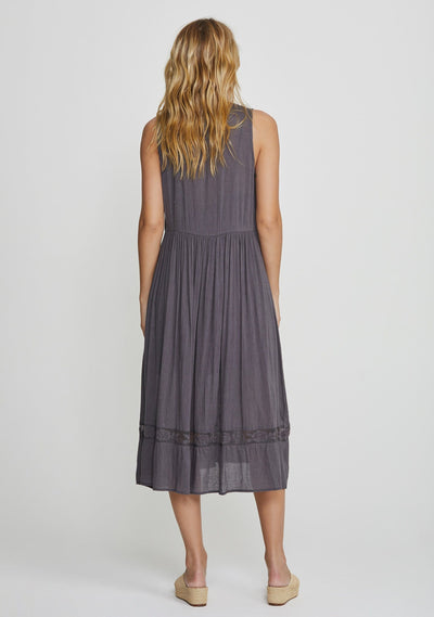 Margot Wren Midi Dress Charcoal - Auguste The Label