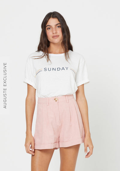 Sunday Tee Off White - Auguste The Label