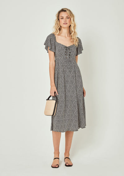Hazel Brae Midi Dress Black - Auguste The Label