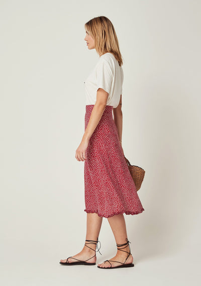 River Della Midi Skirt Red - Auguste The Label