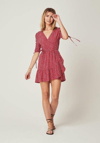 River Della Mini Dress Red - Auguste The Label