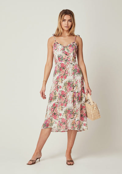 Provence Ada Midi Dress Natural - Auguste The Label