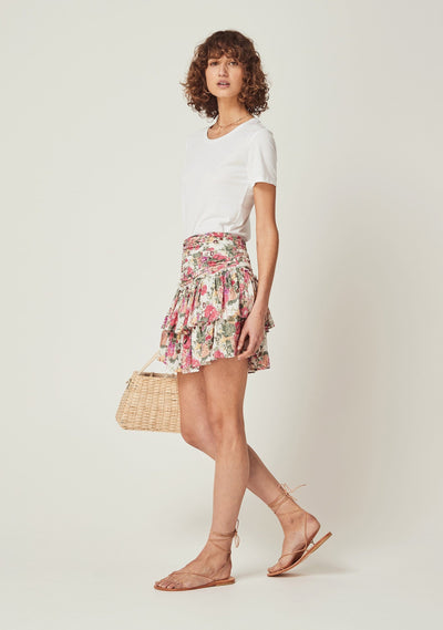 Provence Dylan Mini Skirt Natural - Auguste The Label