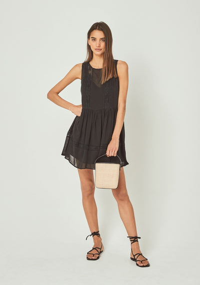 Margot Wren Sleeveless Mini Dress Black - Auguste The Label