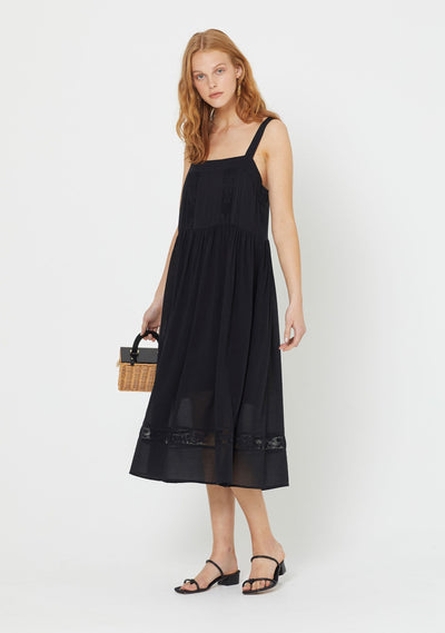 Margot Wren Strap Midi Dress Black - Auguste The Label