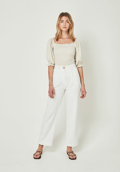 Patty Pant Off White - Auguste The Label