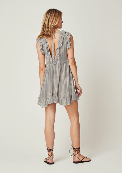 Maze Iris Mini Dress Off White - Auguste The Label