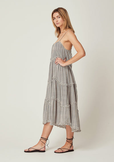 Maze Dunes Midi Dress Off White - Auguste The Label