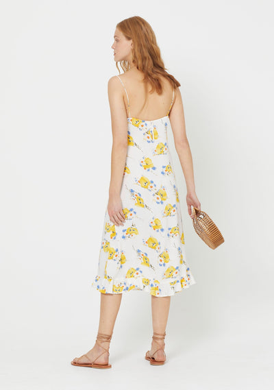 Madeline Davis Midi Dress White - Auguste The Label
