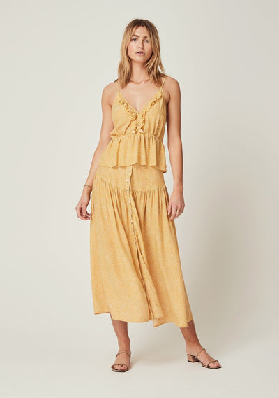 Tear Drop Meadow Cami Golden Sand - Auguste The Label