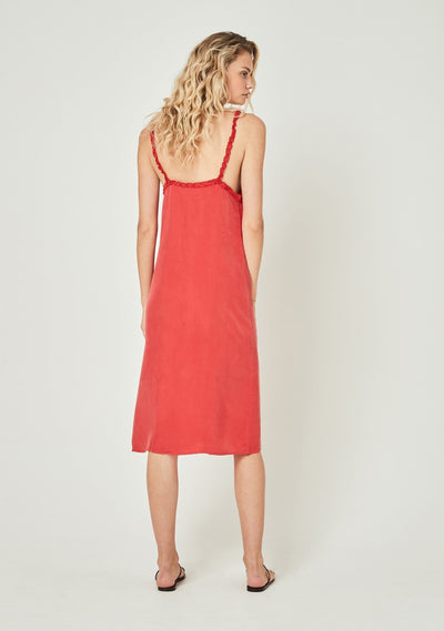 Honey Midi Dress Red - Auguste The Label